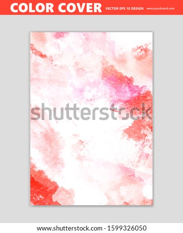 Abstract color, paint vector background, cool wall decoration, cover template, brush effect  #1599326050