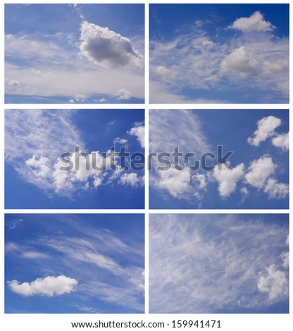 sky with clouds, set #159941471