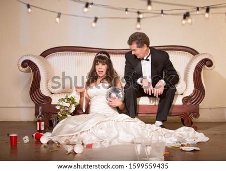 Husband reacting to unhappy bride #1599559435