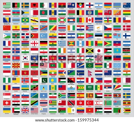 Flags of the countries of the new world #159975344