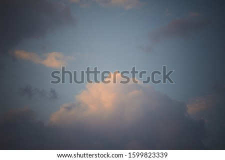 Photo of beautiful cloud formation struck by the golden evening sun rays #1599823339