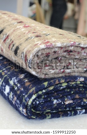 Multi-colored fabric as a background #1599912250
