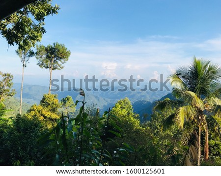Panoramic view of Sierra de las Minas mountaing range, Alta Verapaz, Guatemala #1600125601