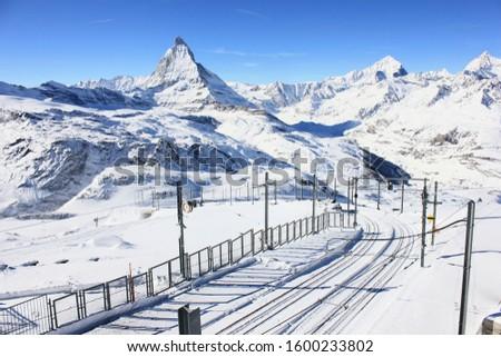 Mystical majestic Mount Matterhorn from Gornergrat Switzerland #1600233802