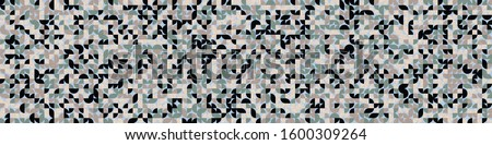 Pattern with random colored quarter circles Generative Art background illustration #1600309264