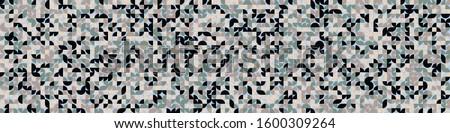 Pattern with random colored quarter circles Generative Art background illustration #1600309264