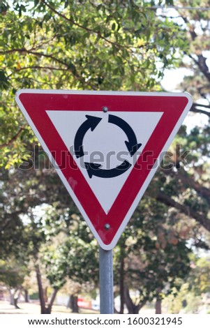 Rotating signpost and attention signage board. #1600321945