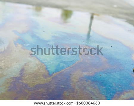 Oil slick on a cloudy day #1600384660