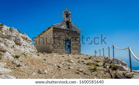 Europe, Croatia. Chapel in top of the hull. This hill is 1762 meters high #1600581640