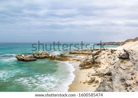 De Hoop Nature Reserve, coast with Indian Ocean and lonely beach, South Africa #1600585474