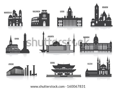 Silhouettes of cities #160067831