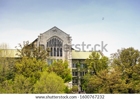 Seoul, South Korea-26 APR 2019: Ewha Womans University , Famous All Female University with The vintage Architecture #1600767232