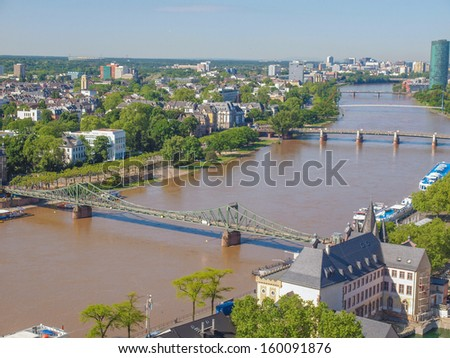 Aerial view of the city of Frankfurt am Main in Germany #160091876