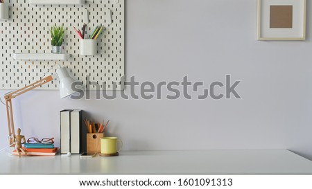 Work space comfortable, Modern workplace. Royalty-Free Stock Photo #1601091313