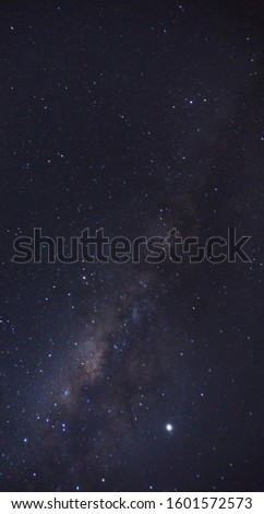 Starry night and milky way. Stars and galaxy.