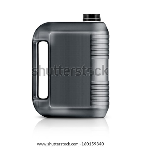 Gray plastic gallon, jerry can  isolated on a white background.  (with clipping work path) #160159340