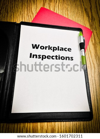 Workplace health and safety title pages for incident investigation and inspection #1601702311
