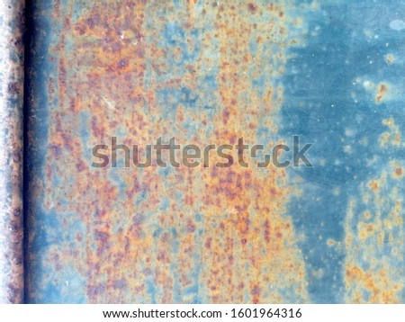 Rustic on the old wall background. Rust wall. Rust effected to wall. Rust. Rust background #1601964316