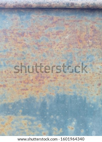 Rustic on the old wall background. Rust wall. Rust effected to wall. Rust. Rust background #1601964340