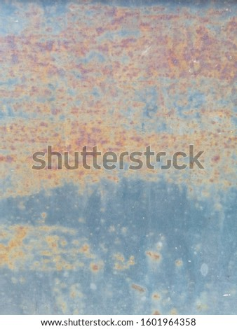 Rustic on the old wall background. Rust wall. Rust effected to wall. Rust. Rust background #1601964358