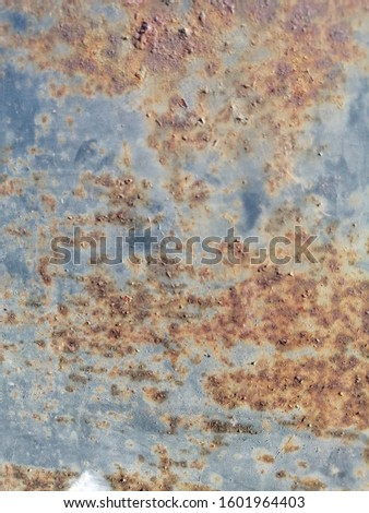 Rustic on the old wall background. Rust wall. Rust effected to wall. Rust. Rust background #1601964403