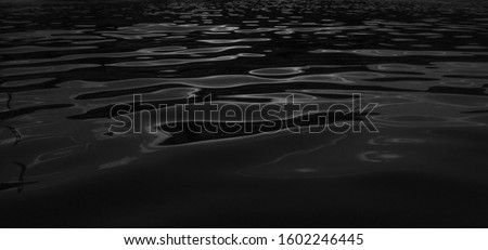 water texture. water reflection texture background. Dark background, High resolution background of dark water or oil surface. Ocean surface dark nature background. River lake rippling Water.  #1602246445
