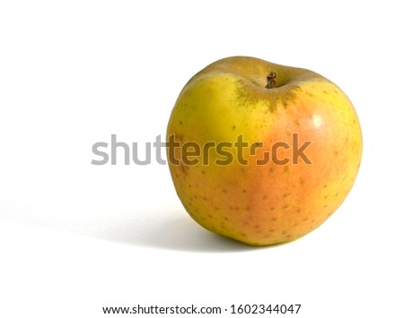 Single Reinette Apple on white background