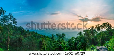 Nature beauty of God's own country Kerala Panoramic shot from Vazhamala Best Place to visit in Kannur Beautiful Travel and Tourism Image #1602460729