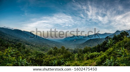 Kerala Travel and Tourism concept image Wayanad amazing nature beauty of God's own country, Beautiful mountain view and best place to visit in Kerala #1602475450