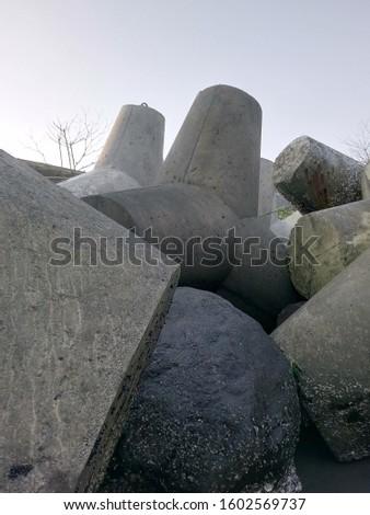 breakwater rock, sea rock, stone rock #1602569737
