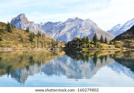 Beautiful Alpine lake. Switzerland #160279802