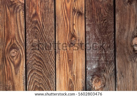 Old Weathered Brown Vertical Wooden Planks #1602803476