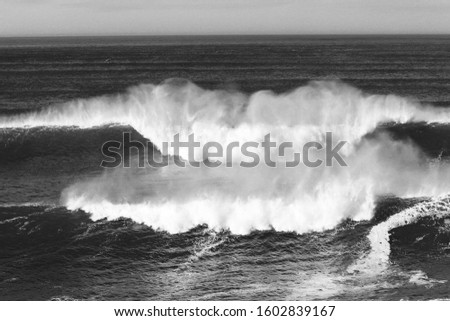 Big ocean waves perfect for surfing #1602839167