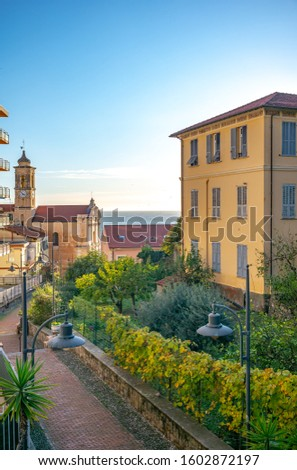 Small Italian village on the cost #1602872197