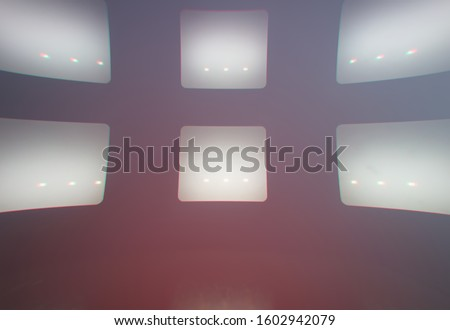 Six empty tv screens abstract background #1602942079