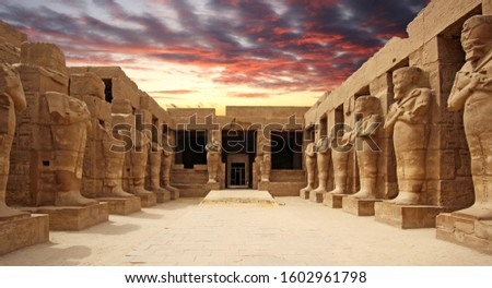Ancient ruins of Karnak temple in Luxor. Egypt #1602961798