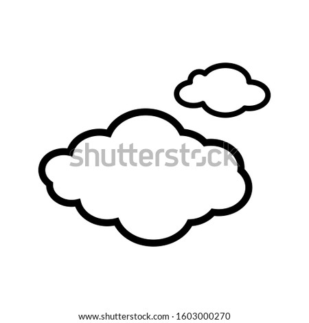 Cloud icon vector in outline style design #1603000270