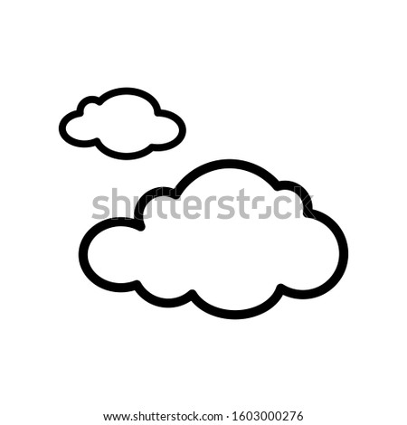 Cloud icon vector in outline style design #1603000276