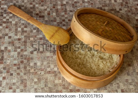 Rice cooked in a traditional wooden steamer has a special taste. You can eat it as a separate dish, as a side dish, or as an addition or ingredient to other dishes. In any case, it is very healthy. #1603017853