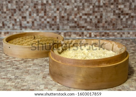 Rice cooked in a traditional wooden steamer has a special taste. You can eat it as a separate dish, as a side dish, or as an addition or ingredient to other dishes. In any case, it is very healthy. #1603017859