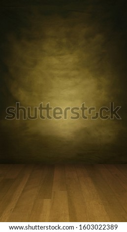 Sepia backdrop with a wooden floor in a portrait mode, to use with your product or model photoshoot.