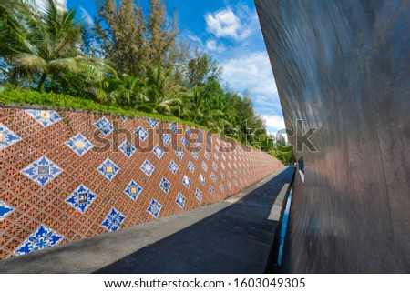 Picture of the Khao Lak tsunami memorial in Thailand during daytime