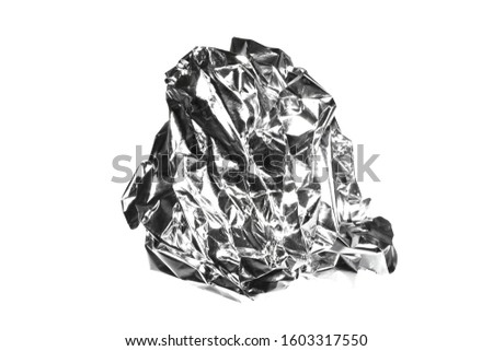 crumpled foil isolated on white background #1603317550