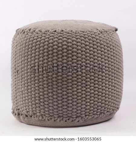 Comfortable soft pouf for home #1603553065