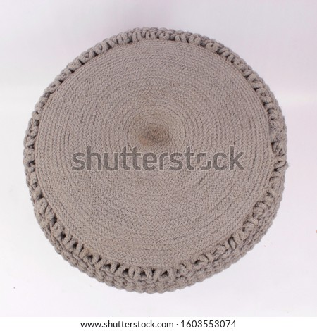 Comfortable soft pouf for home #1603553074