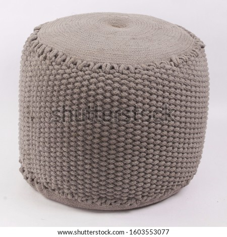 Comfortable soft pouf for home #1603553077