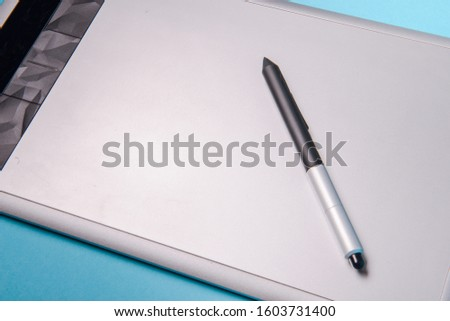 Graphic tablet with pen for illustrators and designers #1603731400