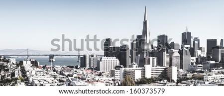 San Francisco downtown skyline with bridge