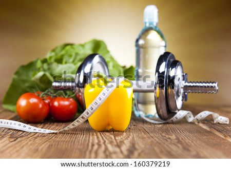 Healthy lifestyle concept, Diet and fitness  Royalty-Free Stock Photo #160379219