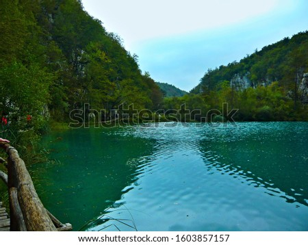 Croatia-view of a lake in the Plitvice Lakes National Park #1603857157